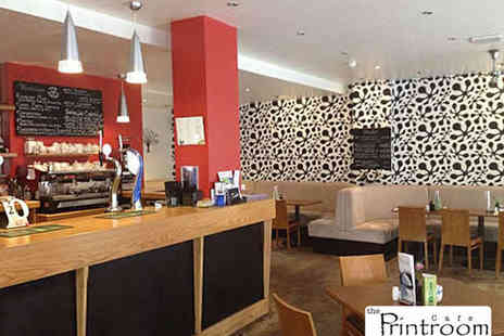 The Printroom Cafe Bar - Starter and Main Each for Two - Save 53%
