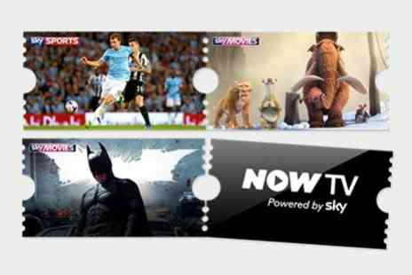 NOW TV - Six Month Sky Movies Pass Plus One Sky Sports Day Pass - Save 78%