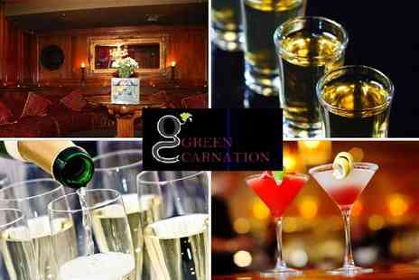 Green Carnation - VIP table in Soho with two cocktail jugs - Save 46%