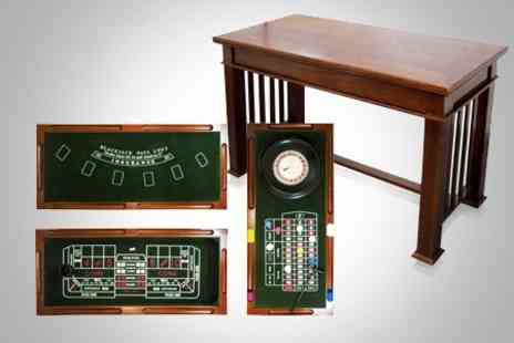 UHS - Casino Game Set and Table - Save 50%
