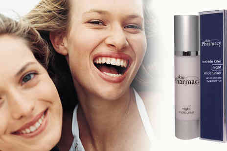 Skin Pharmacy - Wave bye bye wrinkles & scream hello youthful skin get this Wrinkle Killer Night Moisturiser - Save 83%