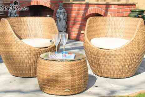 Cozy Bay - Two Seater Rattan Moon Garden Set - Save 49%