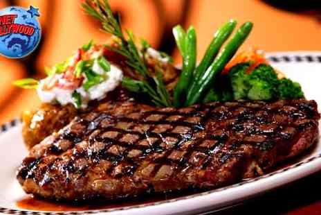 Planet Hollywood - Two Course Planet Hollywood Meal for 2 - Save 49%