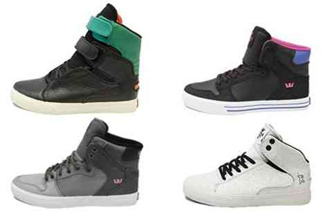 Born on the Streets - Supra High or Mid Top Trainers - Save 68%