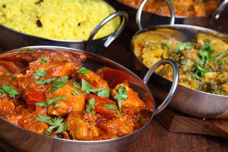 Priya Indian Restaurant - Three Course Meal for Two - Save 62%