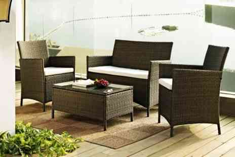 GRS Gadgets - Rattan Outdoor Table and Chair Set - Save 67%