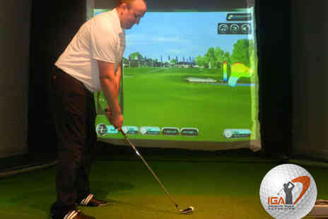 Glasgow Golf Centre - Hour Long Golf Simulation Session with Panini Each for up to Four People - Save 66%