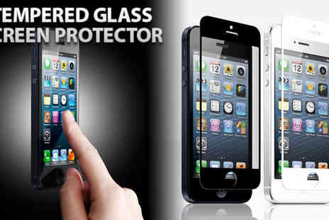 Assist World - Nitro Glass Screen Protector for iPhone 4/4s & 5 in Popular White or Black - Save 68%