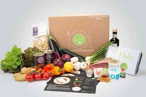 Hello Fresh - Hello Fresh family box including four delicious meals for four people  - Save 59%
