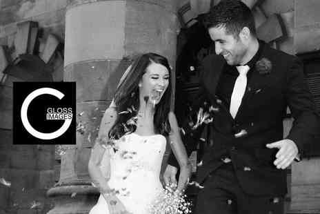 Gloss Images - Full day wedding photography package including a 25 8x6 picture photo album - Save 70%