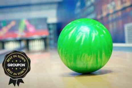 Rollerbowl - Two Games of Bowling With a Choice of Hotdog Nachos or Burger for Four - Save 77%
