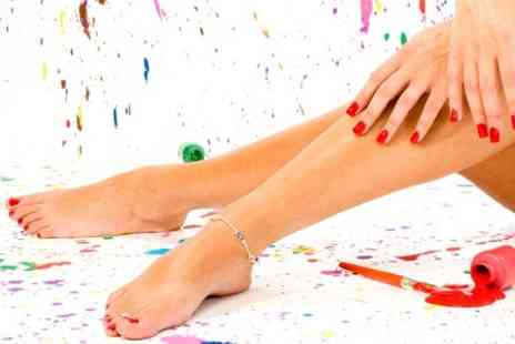 Boom Boom Beauty - Luxury Manicure Plus Luxury Pedicure - Save 30%