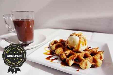 Gelato Mio - Belgian Waffles With Ice Cream and Drinks For Two - Save 53%