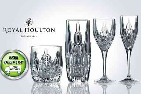 UHS - Six stunning Royal Doulton glasses - Save 44%