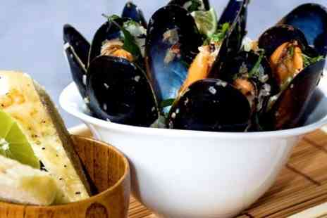 Steam Wine Bar - Mussels and Wine For Two - Save 52%