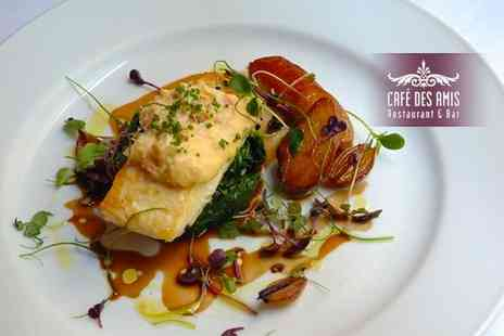 Cafe Des Amis - Two course meal for two - Save 28%