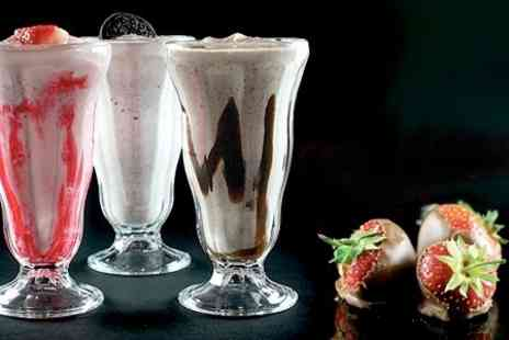 Afters - Strawberries Shake and Waffle With Ice Cream For Two  - Save 51%