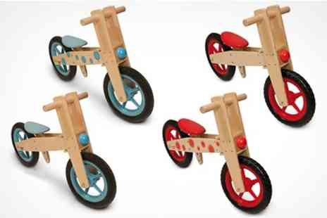 James Russell - Childrens Wooden Balance Training Bike in Choice of Colours - Save 64%