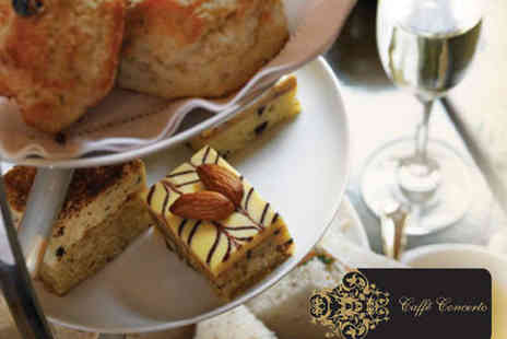 Caffe Concerto - Afternoon Tea for Two or Sunday Roast with Wine for Two - Save 49%