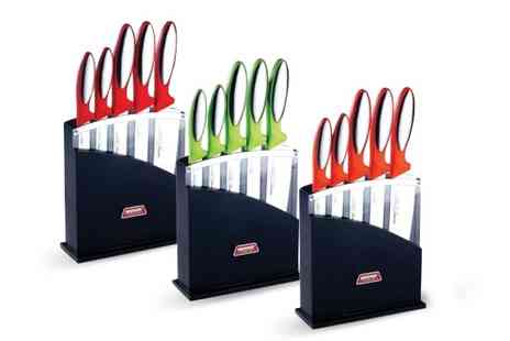 Beesbay - 6 Piece German Knife Set & Block - Save 76%