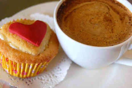 Deli-Lama Cafe - Hot Drink and Cake for Two People - Save 55%
