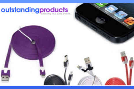Outstanding Products - Anti Tangle Charging Cable for iPhone 4 or 5 - Save 56%