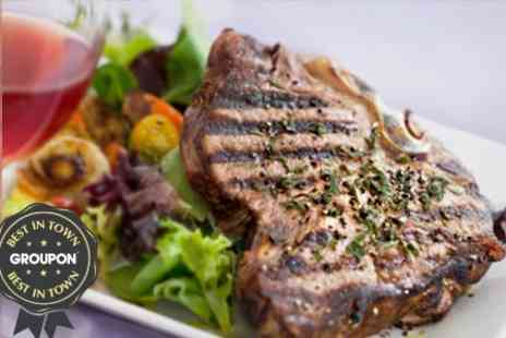 Lazy Lounge - Steak Meal With Wine For Two - Save 56%
