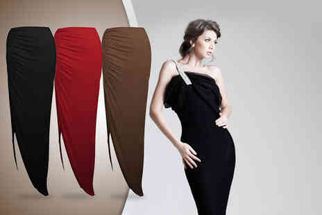 Karma Clothing - Ruched side split maxi skirt in a choice of colours - Save 43%