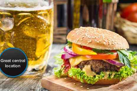 Gourmet Grub - Gorge yourself with a burger meal for two including fries or salad and a cold beer - Save 50%