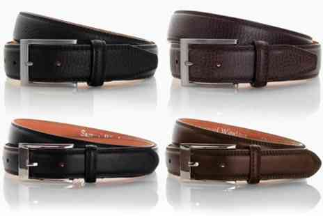 James Russell - Mens Leather Italian Belt in Choice of Style - Save 57%