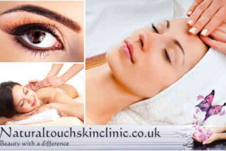 Natural Touch Beauty - Dermalogica Facial With Choice of Back Massage or Perfect Brows Treatment - Save 56%