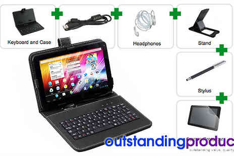 Outstanding Products - Whilst on the go with this 9 Inch Tablet Bundle - Save 70%