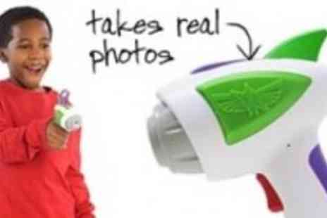 Toy Story - Buzz Lightyear Photo Blaster Takes Real Photos Includes Holster - Save 50%