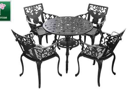 Meika - 4-Seater Round Garden Furniture Set - Save 50%