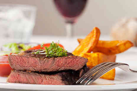 Primo Bar and Restaurant - Main Dish including Steak Choice and Glass of Wine Each for Two People - Save 52%