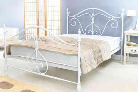 Furniture Wholesale Group - King sized Como metal bed - Save 46%