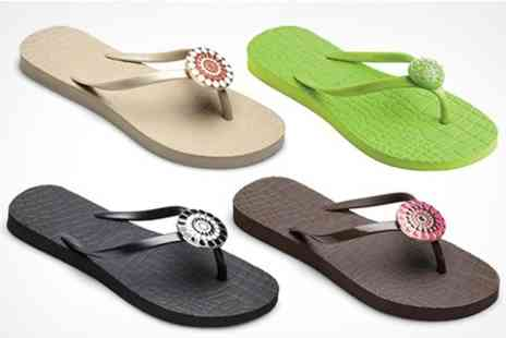 Lindsay Phillips - Flip Flops With Three Snaps - Save 50%