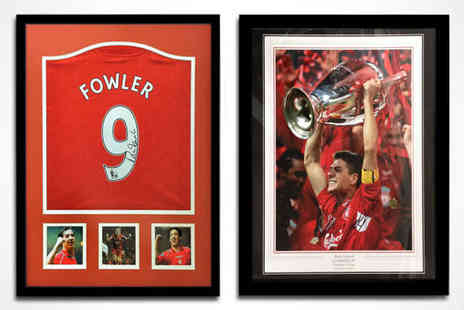 All Star Signings - Signed and Framed Steven Gerrard Photo or Robbie Fowler Replica Shirt - Save 50%