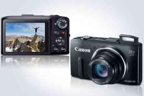 kgbdeals gadgets - Capture the moment with a Canon PowerShot SX280 digital camera in black - Save 50%