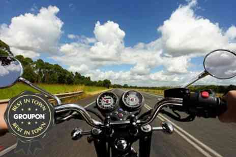 Riding In Action - One Day Compulsory Basic Training With Motorcycle and Helmet - Save 61%