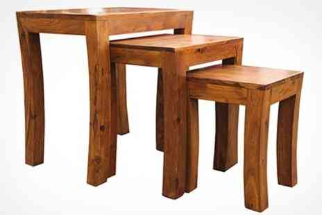 Fab Furnishings - Nest of Three Rosewood Tables - Save 60%
