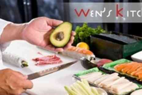 Wen's Kitchen - Three Hour Sushi Making Course For One - Save 72%