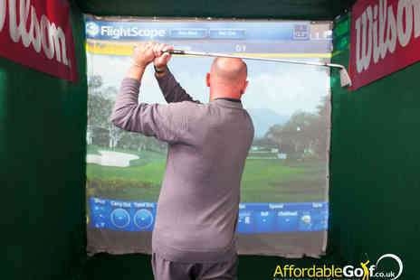 Affordable Golf - One Indoor Golf Lessons with Video Analysis - Save 70%