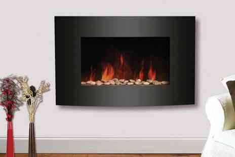 Better Bargains - Curved electric fireplace  - Save 59%