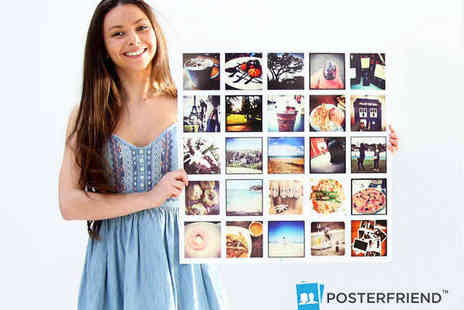 PosterFriend - Personalised Large Square Photo Poster Using Your Facebook Photos - Save 55%