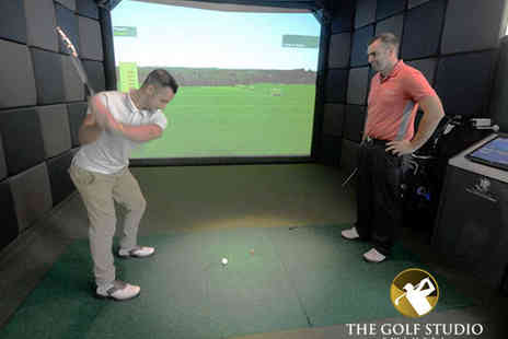 The Golf Studio - One Hour Indoor Golf Lessons with HD Simulator - Save 51%