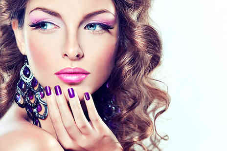 Amy's Hair Beauty & Nails - Pamper package including mini mani with gel polish brow wax & tint  lash tint  - Save 61%