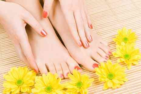 White & Beauty - Shellac, Jessica or Harmony Manicure or Pedicure - Save 50%