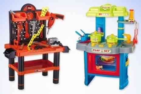 James Russell - Childrens Play Kitchen or Workbench - Save 52%