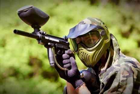 Unique Pursuits Paintball - Paintballing For Five and 100 Paintballs Each - Save 80%